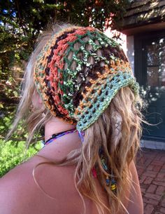 Earthy Crochet Dread Wrap  - - unisex - -. $24.00, via Etsy.