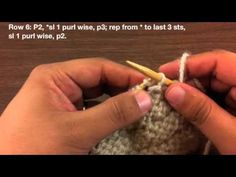 How to Knit the Fluted Fabric Stitch (English Style) - YouTube