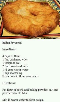 I never measure my ingredients. I go by sight and feel. It still comes out edible . or dog food. Either way, someone gets to eat INDIAN FRY BREAD Good Food, Yummy Food, Tasty, Bread And Pastries, Bread Rolls, Bread Baking, Mexican Food Recipes, Food To Make, Food And Drink