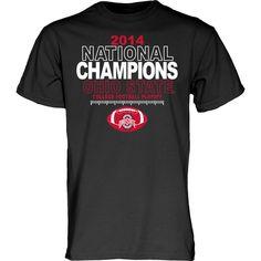 Ohio State Buckeyes 2015 College Football Playoffs National Champions Black Shirt