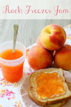 Peach Vanilla Freezer Jam.....Made this today (6/28) and was super easy...Makes about 4 cups, or 8 (4oz) jars