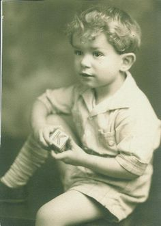 Hugh M. Hefner as a young boy in My Photos by Hugh Hefner