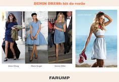 O vestido jeans é tendência para o verão, conquistando até as celebridades. Confira um dos modelos de vestido jeans da Farump!