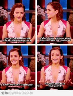 Emma Watson on America. Too cute