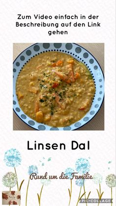 Für alle Kokosmilch-Fans Ethnic Recipes, Food, Lentil Dal Recipe, Budget Cooking, Delicious Dishes, Healthy, Chef Recipes, Meal, Eten