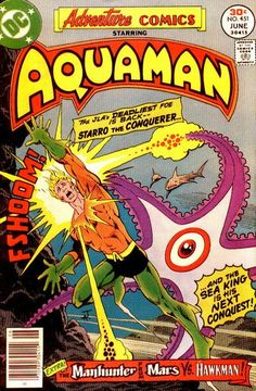 "If I recall right, Aquaman got his start in ""Adventure Comics"" in the old days! This series of adventures was written by David Michelinie (""Iron Man""). The starfish is Starro, as in ""The alien that the JLA first fought and Snapper Carr defeated with lime from his lawn."""
