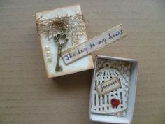 Key to my heart altered matchbox