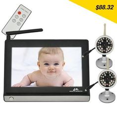 Hot Sale Wireless Baby Monitor 7 Inch LCD IR Nightvision Portable Water Resistant Baba Electronics Com Video Camera Wireless Baby Monitor, 4g Wireless, Happy Labor Day, Cameras For Sale, Baby Safety, Video Camera, Night Vision, Cool Toys, Remote