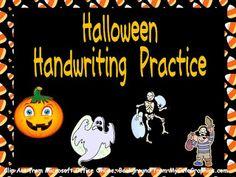 Kindergarten Celebration: Halloween Handwriting FREEBIE!!