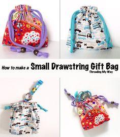 Drawstring Gift Bag Tutorial ~ Ho Ho Ho Link Party