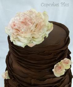 ruffle cake pictures | chocolate ruffle wedding cake — Round Wedding Cakes