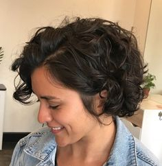 Short Curly Dark Brown Bob bob hairstyles for thick hair curly 65 Different Versions of Curly Bob Hairstyle Haircuts For Curly Hair, Curly Hair Cuts, Short Bob Hairstyles, Hairstyles Haircuts, Short Hair Cuts, Brown Hairstyles, Short Curly Bob Haircut, Thin Wavy Hair, Trendy Hairstyles