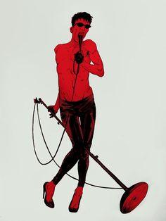 Punks a drag!  Illustrations by Robert Sammelin