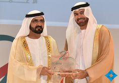 6/2/14 20th Anniversary of Dubai Business Excellence Awards.  Mardinat Jumeirah Arena.....Mohammed honors Al Gergawi, the 1st coordinator of the Dubai Quality Program