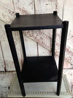 Vintage plant stand small table wooden lamp by LititzCarriageHouse, $30.00