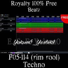 【Free Download Track】F05-114 (rim rool) 【Royalty Free】   YakumO_YoshikI Techno