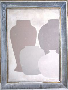 large 4 - Original acrylic painting on wood in antique frame by Peter Woodward