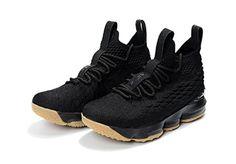 f2b55e9b4b1 2018 New Style Nike LeBron 15 Mens Basketball Shoes Sneakers Coal Black Gum  Size 11