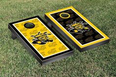 Wichita State University Shockers Repeat Logo Wallpaper Cornhole Set