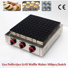Gas Type Poffertjes Grill Maker Small Pancake Waffle Machine Stainless Steel 100 pcs/Batch Commercial Use Brand New #Affiliate