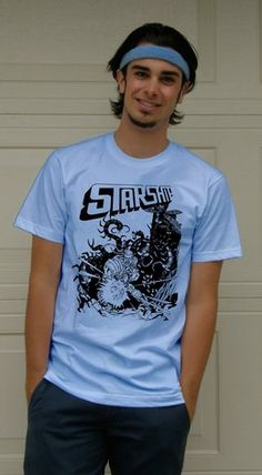 joey richter wearting a starship t-shirt