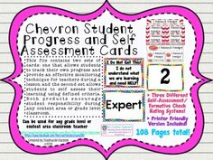 This file contains two separate sets of cards that are designed to give students more responsibility of their learning while still allowing the teacher to actively monitor student understanding and learning. The majority of the cards are designed using red, yellow, green, and blue chevron patterns along with a more printer friendly version.