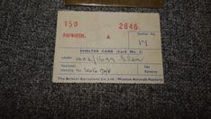 WW2 THE BRISTOL AEROPLANE Co. Ltd. (WESTON AIRCRAFT FACTORY) SHELTER CARD.