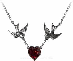 UL17 'Swallow Heart' girls necklace by Alchemy Gothic.