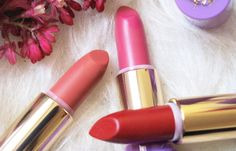 The Black Pearl Blog - UK beauty, fashion and lifestyle blog: Neve Cosmetics Dessert a Levres Lipsticks Review and Swatches - Peach Macaron, Mousse Framboise and Cherry Pie