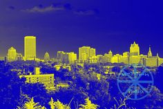From Kilbourn Park with color effects by mtownphoto on Etsy