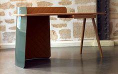 Big Boss Desk Exudes the Elegance of a Luxury Vehicle #differenthomedecor #uniquefurniture