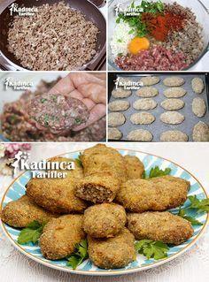 Fırında Kadınbudu Köfte Tarifi Turkish Kebab, No Gluten Diet, Taco Pizza, Greek Cooking, Iftar, Turkish Cuisine, Bulgur, Turkish Recipes, Food Design