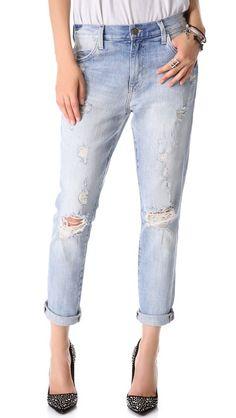 Wildfox Marisa Destroyed Boyfriend Jeans