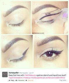 Cat Eye Makeup Stencil - Mugeek Vidalondon