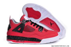 Authentic Air Jordan 4 Toro  Fire Red / White - Black -Cement Grey Dark Red, Red And White, Red Black, Kobe 9 Shoes, Air Max Sneakers, Sneakers Nike, Buy Nike Shoes, Jordan 4, Michael Jordan