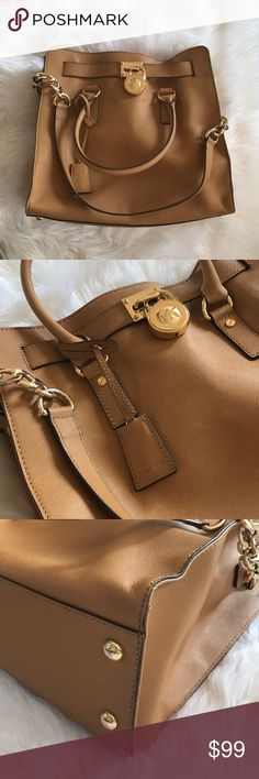93b34457308855 Michael Kors Hamilton Satchel Used Large MK Hamilton Satchel - the exterior  is in great condition