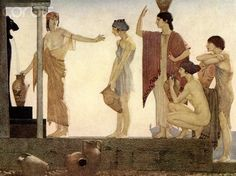 An illustration by William Russell Flint from a version of The Odyssey of Homer first published in 1924.