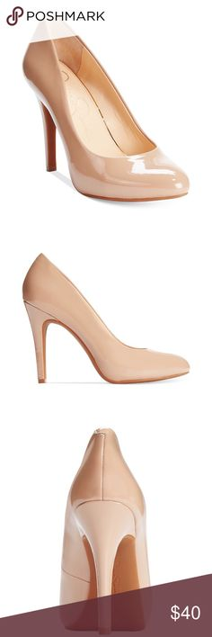 "Jessica Simpson Malia Pumps - Nude New no box. Never got a chance to wear them. The smooth micro suede fabric upper and wrapped fabric heel make these Malia pumps the perfect compliment to any occasion. Almond closed toe pumps. 1/2"" platform 4"" heel. Nude Jessica Simpson Shoes Heels"