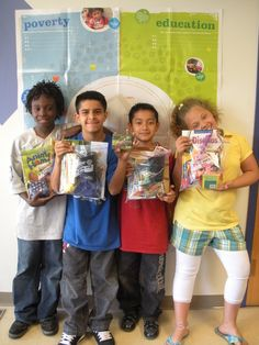 Collect books and toys for birthday bags, given to homeless shelter kids