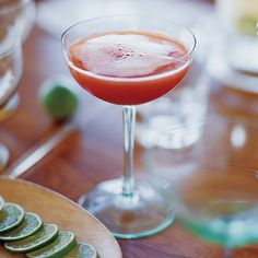 The blood-orange juice turns what would ordinarily be a mimosa into a lovely ruby-tinted cocktail.