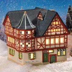 """Historisches Keramik Fachwerk Lichthaus Altes #Weinhaus """"Bacharach"""" - Das """"Alte Haus"""" aus dem Jahr 1568 ist eines der vielen wunderschönen alten Fachwerkhäuser der Stadt #Bacharach. Originalgetreu gearbeitet, ein historisches Haus für Ihre Sammlung."""