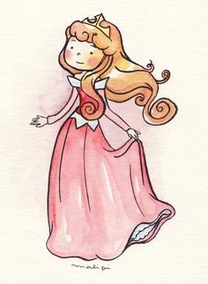 Disney Princess by Mariana Valente, via Behance