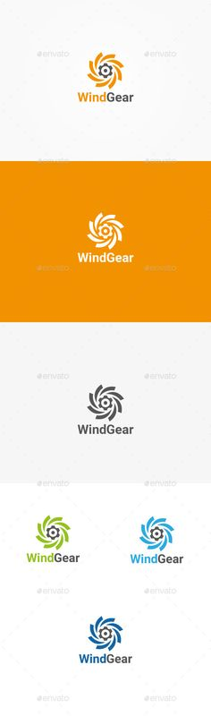 Wind Gear  Logo Design Template Vector #logotype Download it here: http://graphicriver.net/item/wind-gear-logo/10424307?s_rank=1444?ref=nexion