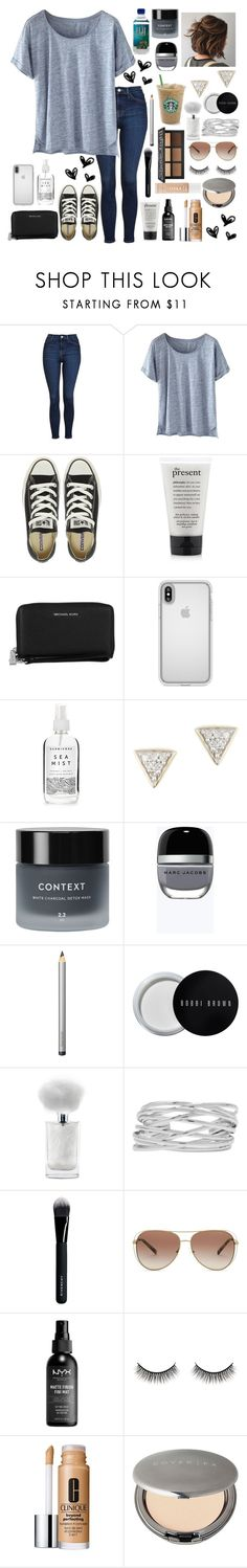 """"""""""" by annelieseoh ❤ liked on Polyvore featuring Topshop, Wrap, Converse, philosophy, Michael Kors, Speck, Herbivore, Adina Reyter, Context and Marc Jacobs"""