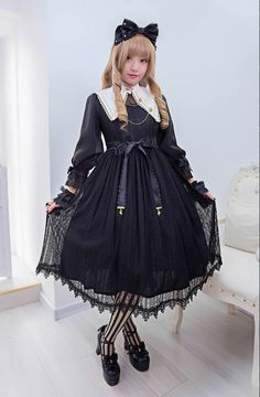 Angel's Heart -The Laws of Alchemy- Lolita OP Dress - My Lolita Dress Lolita Goth, Gothic Lolita Dress, Gothic Lolita Fashion, Lolita Style, Visual Kei, Frilly Dresses, Flower Girl Dresses, Modest Summer Fashion, Steampunk