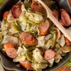 Skillet Sausage 'n' Cabbage