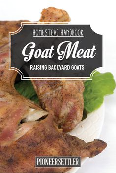How To Prepare Goat Meat | Raising Animals For Self-Sufficiency by Pioneer Settler at  http://pioneersettler.com/goat-meat-raising-goats/