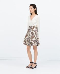 ZARA - WOMAN - FLARED PAISLEY SKIRT