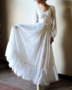 New wedding dresses vintage bohemian blue 58 Ideas Dresses Elegant, Pretty Dresses, Vintage Dresses, Beautiful Dresses, Vintage Outfits, Vintage Clothing, 1970s Dresses, Dresses Dresses, Stylish Dresses