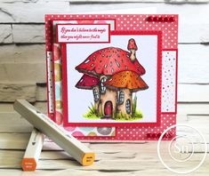 6 x 6 Tent Fold Card. Designed by Michelle Millsom. Crafters Companion Cards, Spectrum Noir, Alcohol Markers, Fairy, Delicate, Japanese, Create, Illustration, Card Ideas